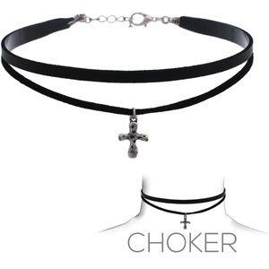 Black Cross Chocker